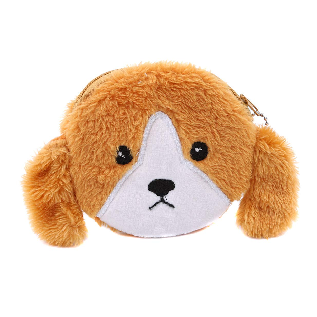 LALANG Girl Plush Dogs Style Keychain Pendant Cute Coin Purse Wallet(Yellow)