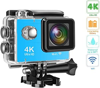 Davola 4K 16MP Underwater Waterproof Action Camera with 1 Battery