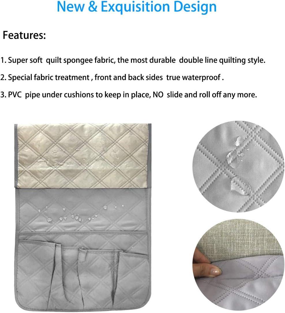 6/scomparti porta telecomando impermeabile Gray Tasca portaoggetti multiuso per divano