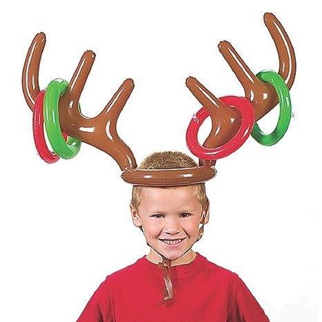 Flybuild® Juego de Navidad para fiesta de reno hinchable, anillo ...