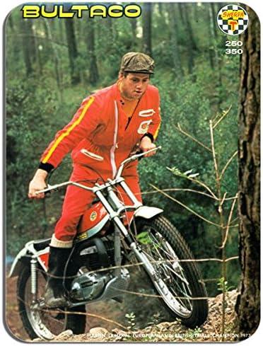 Classic moto de trial motocicleta alfombrilla de ratón. Martin Lampkin alfombrilla de ratón