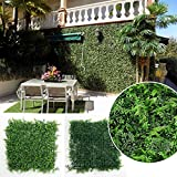 "Artificial Boxwood Hedges Panels, Outdoor Plant Fence, Garden Home Wall Wedding Decoration, Pack of 6pcs 20""x20""/pc"