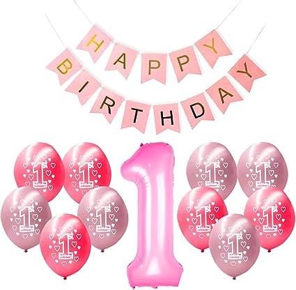 Amazon.com: Pancarta de globo de felicitación de cumpleaños ...