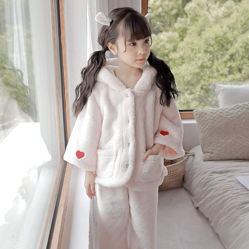 f3903026386d OPPP Children s pajamas Girls coral velvet pajamas autumn and winter ...