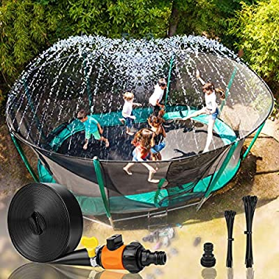 Trampoline Sprinkler for Kids Outdoor Trampoline Backyard Water Park with  50 Water Balloons 39 FT Sprinkler Fun Summer Outdoor Water Toys for Boys &  Girls. Sports & Outdoor Play Pools & Water Toys