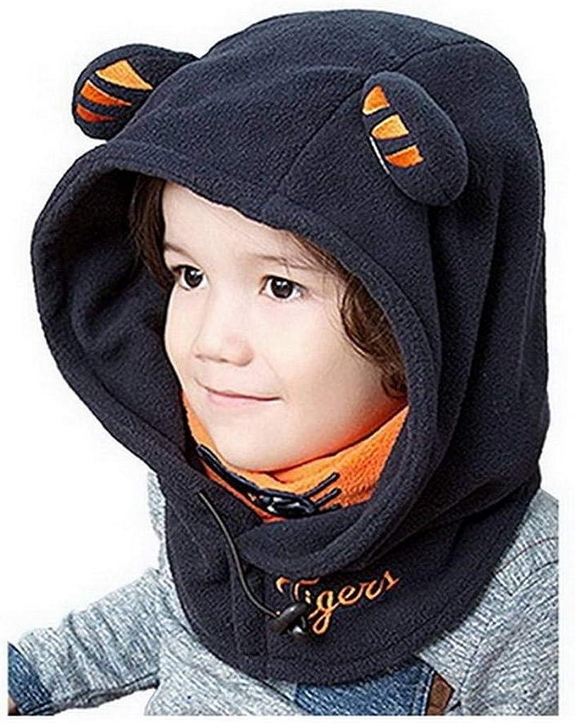 YiyiLai Bonnet B/éb/é Fille Gar/çon Cache Cou Cagoule D/éguisement Animaux Tigre Hiver Mignon