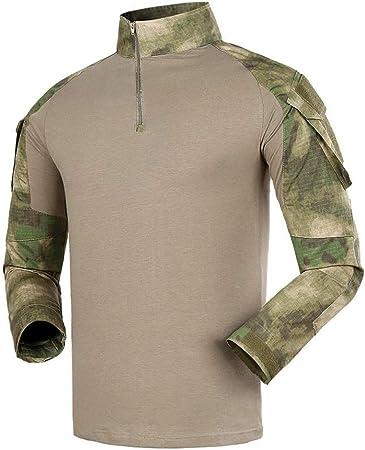Qrigf Ropa táctica Táctico Los entusiastas Militares de los Hombres de Traje de Rana de Manga Larga Llevan una Camisa a Prueba de Viento C-S: Amazon.es: Hogar