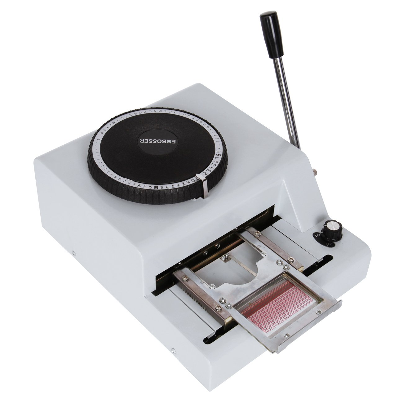 Ambienceo Multi-functional 72 Characters Manual Embosser Code Embossing Stamping Machine for PVC Card VIP Card Credit Card Gift Card