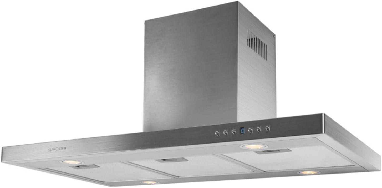 Klarstein 90DS5 Campana de cocina de pared (90 cm, potencia de succión equivalentes a 500 m³/h, 4 niveles de potencia, 4 focos halógenos de bajo consumo para iluminación) – Color Plateado: Amazon.es: Hogar
