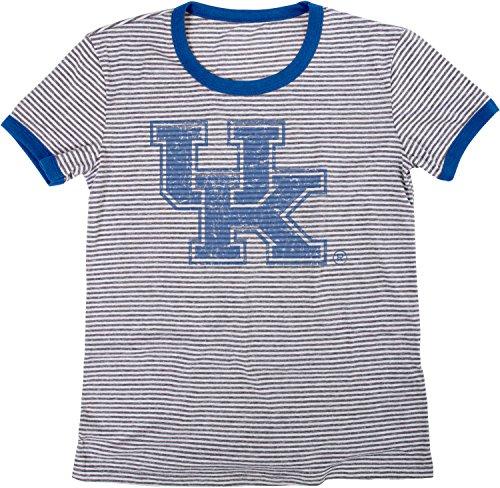 - Blue 84 NCAA Kentucky Wildcats Women's Tri-Blend Retro Stripe Ringer Shirt, X-Large, Royal