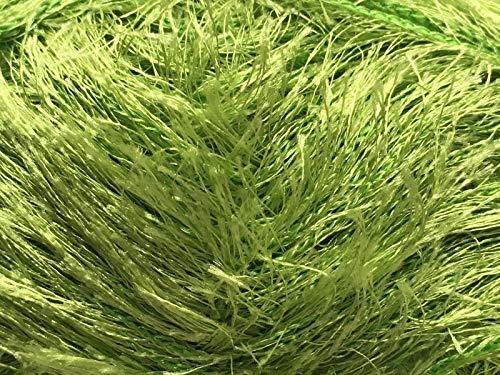 Dark Horse Yarns Lovely Lash #216 Lime Green Eyelash Yarn 50 Gram (Green Yarn Eyelash Lime)