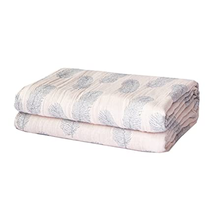 084c0767f2 Cozzy Summer Lightweight and Breathable Muslin Throw Blanket for Bed Sofa  Couch 4 Layers Stone-