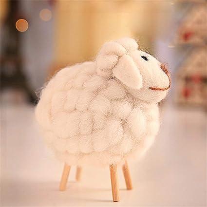 Amazon Com Vige Wood Cloth Sheep Ornaments Home Decoration