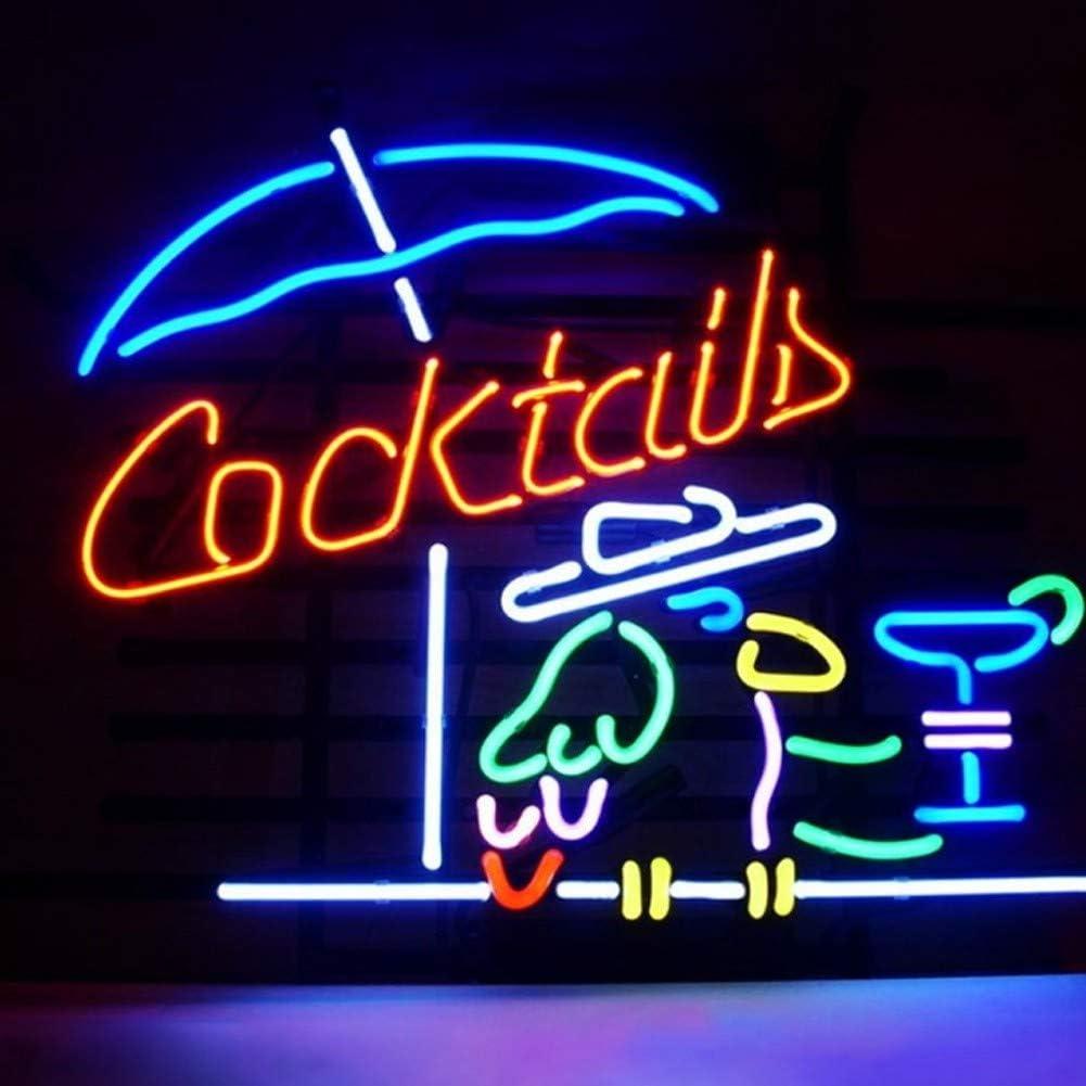 Classe /Énerg/&ea MOCHEN N/éon /À LED,Cadre en M/étal Cocktail N/éon 16x12Enseigne Au N/éon en Verre V/éritable Lumi/ère pour Barre /À Bi/ère Bar Signe De N/éon De La Salle De Garage Garage