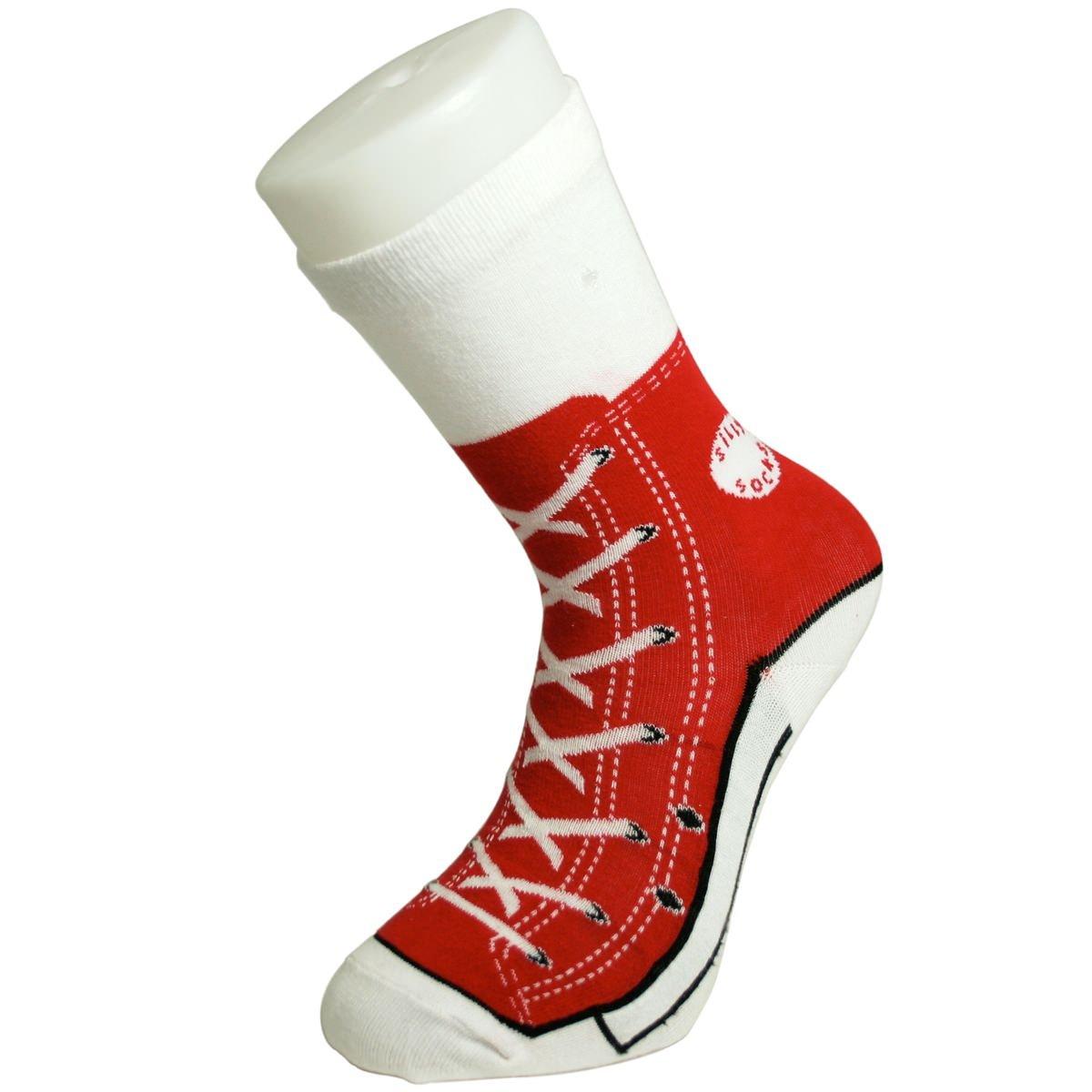 Blu Silly Socks - Calzini rossi, motivo sneaker, taglie dalla 38 alla 46 B05J1228.1