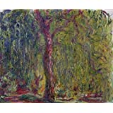 Canvas Prints Of Oil Painting ' Weeping Willow, 1918-1919 By Claude Monet' 18 x 22 inch / 46 x 55 cm , High Quality Polyster Canvas Is For Gifts And Dining Room, Kids Room And Living Room Decoration