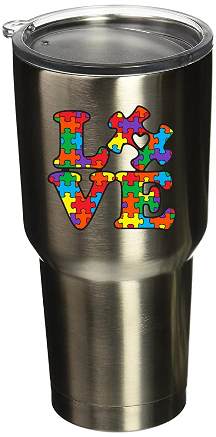 bc7733d6850 BOLDERGRAPHX 5077 Autism Awareness Puzzle Piece with Love 2.6