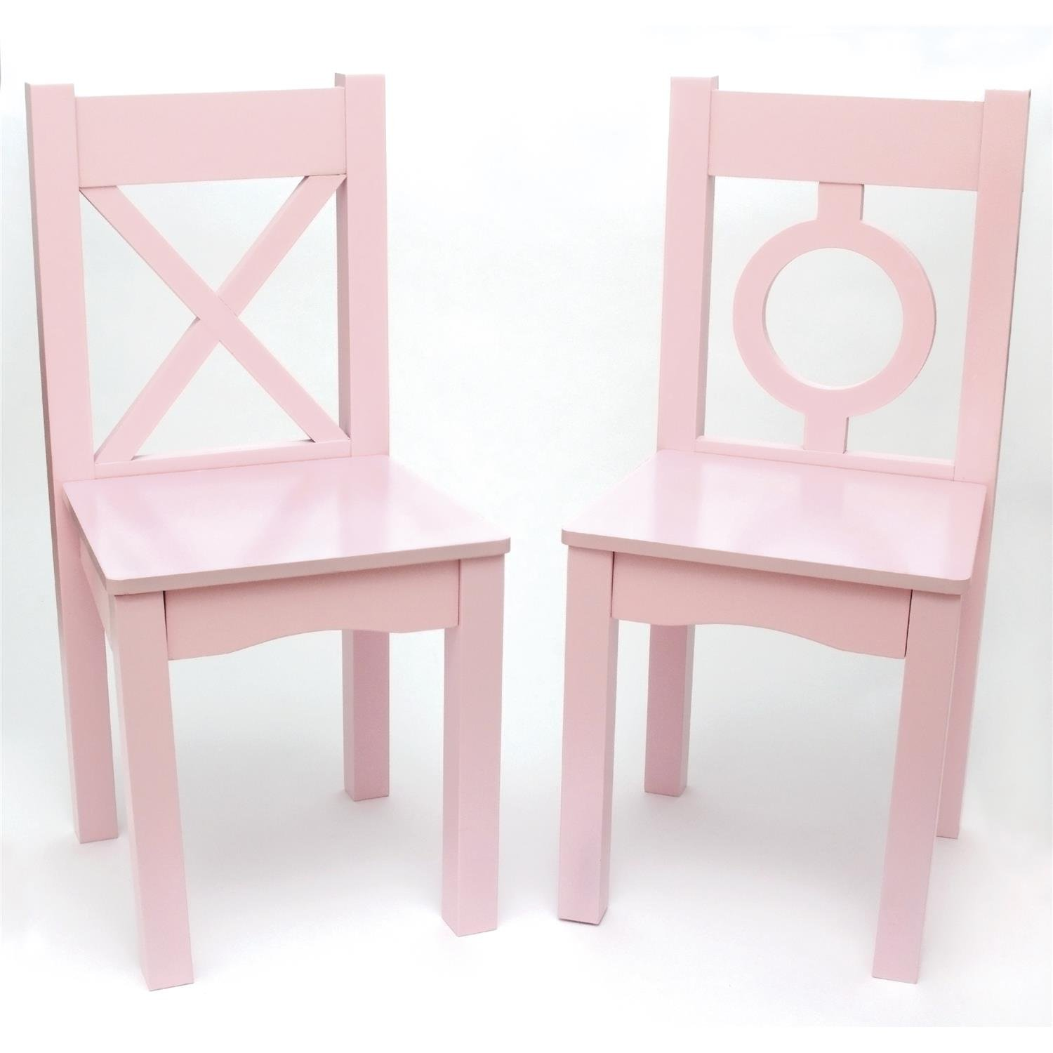 Lipper International 521-2PK Child's Chairs for Play or Activity, 12.75 W x 12.5 D x 27.25 H, Set of 2, Light Pink