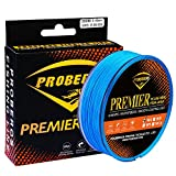 Braided Fishing Line 4 Strands Multifilament PE Superbraid Thinner Diameter Abrasion Resistant Super Power Line 300M Blue 20LB