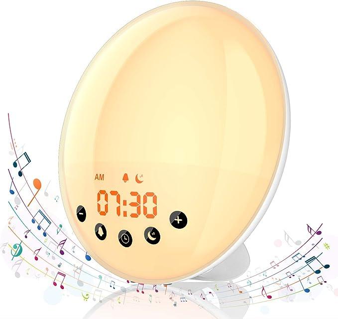 16 opinioni per Hosome Luce Sveglia Wake Up Light Simulazione Alba/Tramonto, Funzione Snooze e