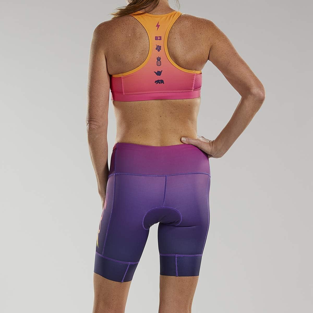 Zoot Damen LTD Triathlon 8 Inch Hose Plus Style Sunset W LTD Tri 8 Inch Short Plus Sunset