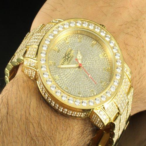 amazon com kronos 14k yellow gold finish elegant men real diamond amazon com kronos 14k yellow gold finish elegant men real diamond full steel king watch watches