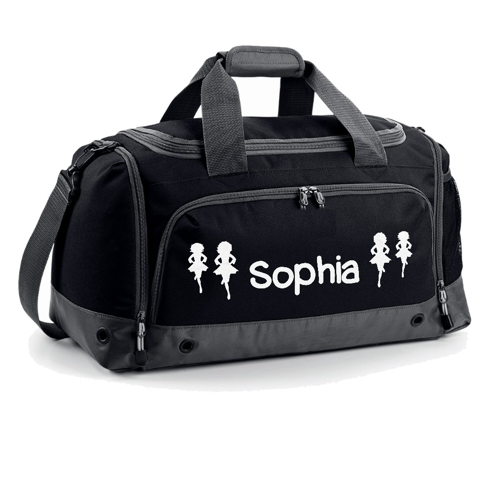 iClobber Irish Dancing Holdall Personalised with Your Name or club Girls Kids Kit Bag Bag