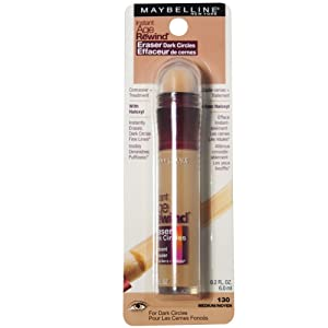 Maybelline Instant Age Rewind Eraser Dark Circles Treatment Concealer, Medium .2 oz (Pack of 4)