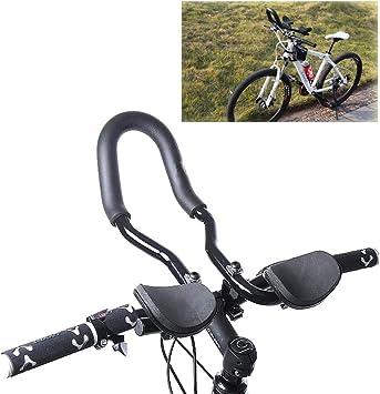 Bicicleta Determinada Aero Bars Ajustable Manillar de Triatlon Resto de la Mano del Manillar TT Bares Adecuados para Bicicleta de Carretera y Bicicleta de Montaña[Diámetro de Tubería Aplicable25,4 Mm]: Amazon.es: Deportes y