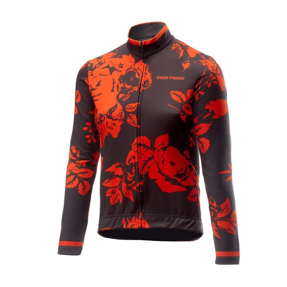 Uglyfrog 2019 Radtrikot Winter Herren Langarm Fahrradtrikot + Radbekleidung 3D Gepolsterte Hosen Set Thermo Vlies Radsport Anzüge Winddicht Warm ZRMX01F
