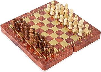 INTIGNIS Juego de ajedrez - Backgammon y Damas 3 en 1 ...