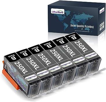 3 Pack Compatible Inkjet Cartridge PIXMA iP7220 iP8720 iX6820 MG5420 MG5422 MG5520 MG5522 MG5620 MG6320 MG6420 MG6620 MG7120 MG7520 MX720 Toner Clinic TC-PGI-250XL 3PK 3 PGI-250BK Black