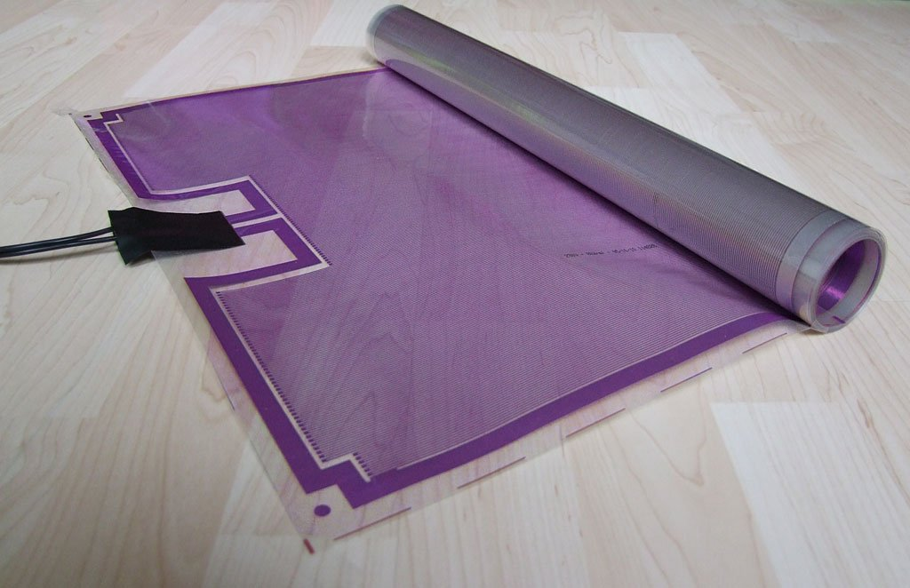 elektrische fu bodenheizung unter vinyl kc18 hitoiro. Black Bedroom Furniture Sets. Home Design Ideas