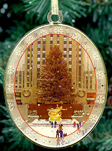 New York City Christmas Ornament - Rockefeller Center Skating Rink -
