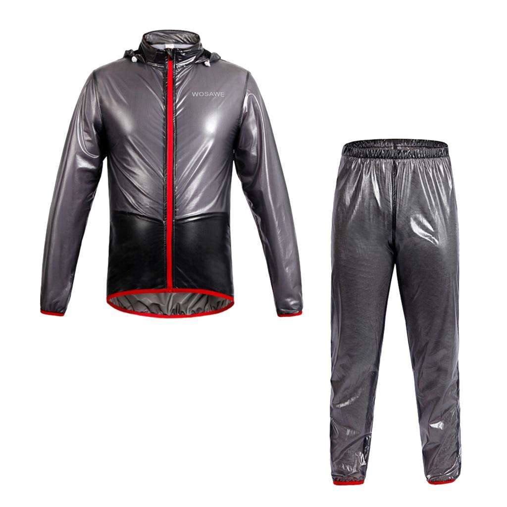 perfk Manteau Coupe Vent Vêtements de Sport Imperméable pour Homme Femme