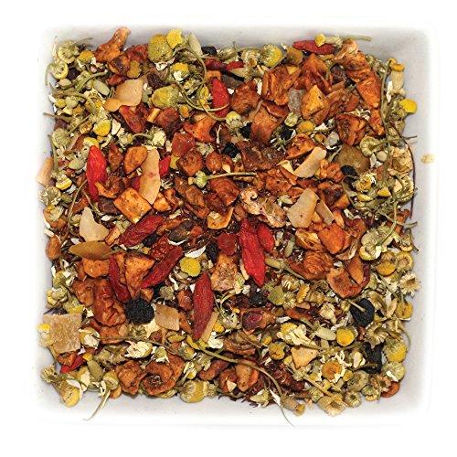 Mango Red Tea Tea - Tealyra - Pineapple Chamomile Crush - Honeybush Red Tea - Mango - Pomegranate - Fruity Herbal Loose Leaf Tea - Hot or Iced - Calming - Bed Time Tea - Caffeine Free - All Natural - 112g (4-ounce)
