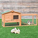 "Tangkula 62"" Chicken Coop Outdoor Garden Backyard Large Wood Hen House Rabbit Hutch Poultry Cage with Run"
