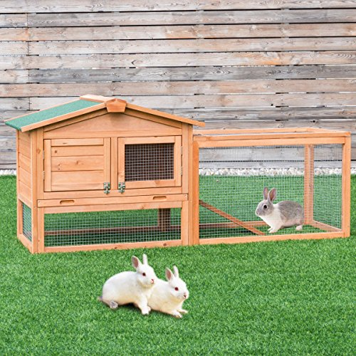 Tangkula 62 Chicken Coop Outdoor Garden Backyard Large Wood Hen House Rabbit Hutch Poultry Cage with Run