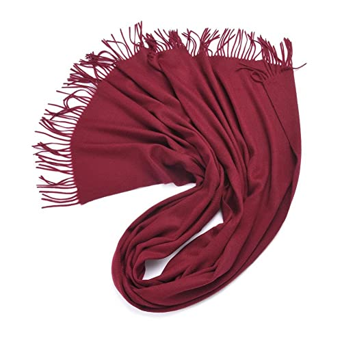 Bufanda Chal Moda Mujeres YR347 Cálido y Elegante 70cm*200cm,GJDE , wine red , 70cm*200cm