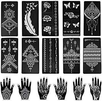 Henna Tattoo Temporare Tattoo Bodypainting Vorlagen 11