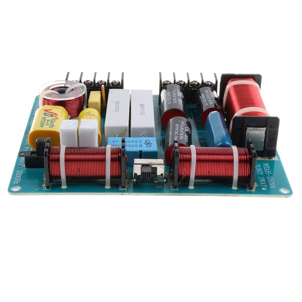 H HILABEE 3-Wege Bass Audio Frequenzteiler Frequenzweiche Modul f/ür Lautsprecher