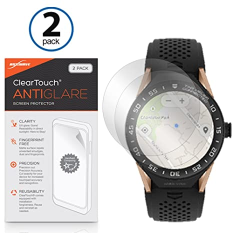 Tag Heuer Connected Modular 45 Screen Protector, BoxWave [ClearTouch Anti-Glare (2-Pack)] Anti-Fingerprint Matte Film Skin for Tag Heuer Connected ...