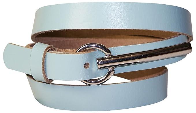 Fronhofer Ceinture de 1,2 cm de large avec une boucle argentée de 8 cm de  long   Cuir de vachette   Fine ceinture pour femme 17915  Amazon.fr   Vêtements et ... 12483cf5ff2