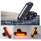 Xcellent Global USB Rechargeable Bicycle Tail Light Bike Rear Helmet Head LED Light 100 Lumens Warning Lights 6 Modes LD100R