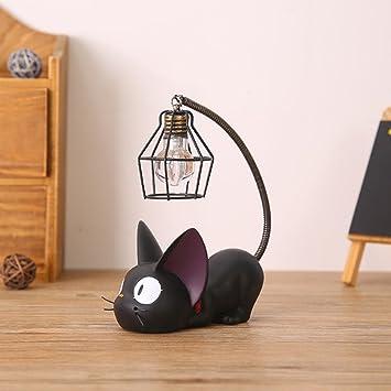 Amazon Com Jiji Cat Night Light Resin Mini Night Light Home