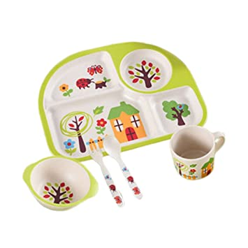 Bowls & Plates Toddler/ Baby Melamine Devider Plate To Rank First Among Similar Products