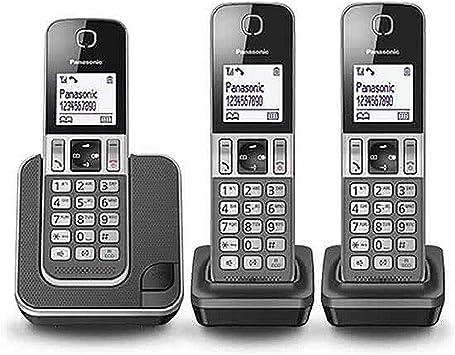 Panasonic KX-TGD313 - Teléfono (Teléfono DECT, Terminal inalámbrico, Altavoz, 50 entradas, Identificador de Llamadas, Gris): Amazon.es: Electrónica