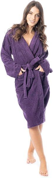 Daisy Dreamer - Albornoz de rizo para mujer, 100% algodón, muy ...