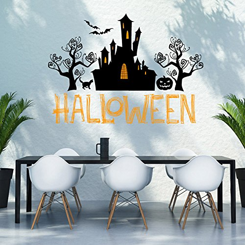 OTTATAT Wall Stickers for Kids 2019,Happy Halloween Home Household Room Mural Decor Decal Removable New Easy to Peel Wedding Night Sleeping Gift for Mother Free Deliver Clearance]()