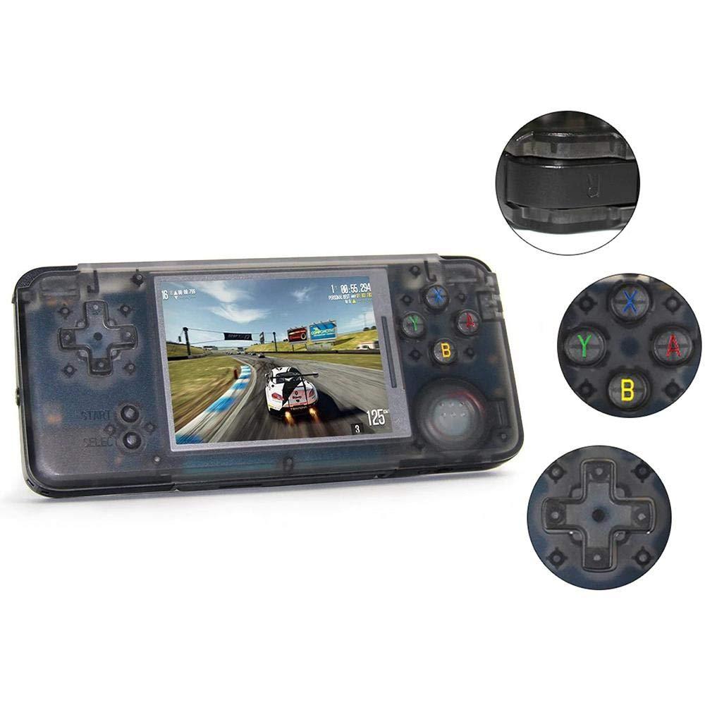 KOBWA Handheld-Spielekonsole, Retro-Spielekonsole 3-Zoll-720P HD 3022 Klassischer Spielespieler, USB-Gebühr, Unterstützung GBA / NES / SFC / SEGA / NEOGEO, Geburtstagsgeschenke für Kinder - Schwarz